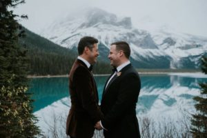Purple & Gold Wedding at The Fairmont Banff Springs | LFW