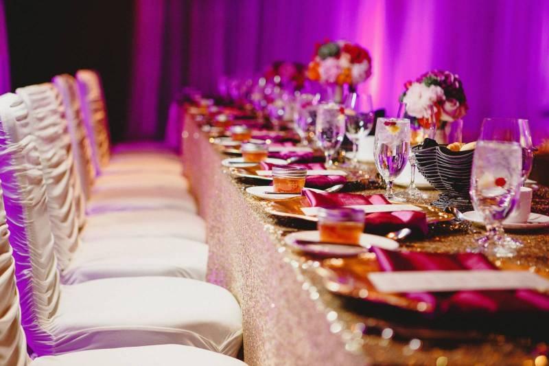 Shimmering Gold and Magenta Wedding | Calgary