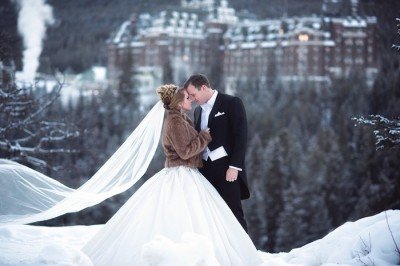 Fairytale Winter Wedding at the Fairmont Banff Springs | LFW