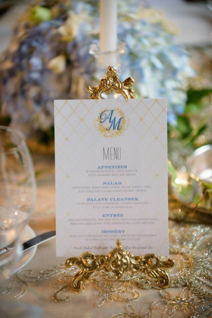 Adrienne and Michael's Blue and Gold Wedding | Banff