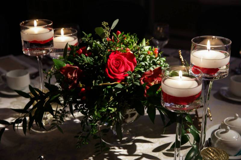 Ted and Fanny's Glamourous Grey and Red Wedding | Calgary